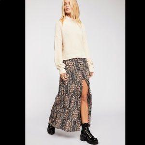 Flynn skye buttoned up maxi skirt love daze
